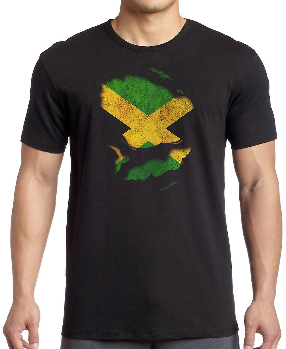 Jamaica Jamaican Ripped Effect Under Shirt Kids T Shirt