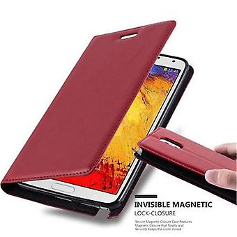 Cadorabo sleeve for Samsung Galaxy-NOTE 3 - mobile case with magnetic closure, stand function and card holder - case cover sleeve pouch bag book Klapp style