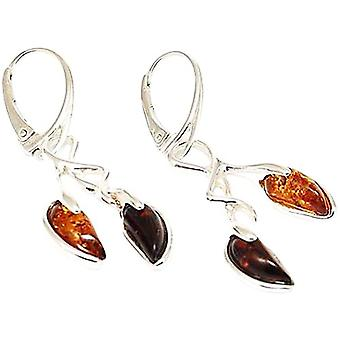 The Olivia Collection Sterling Silver Cherry Shaped Amber Earrings