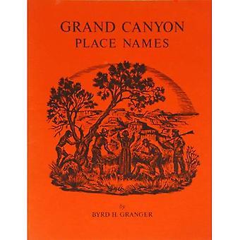 Grand Canyon Place Names