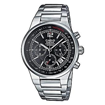 Casio quartz Chronograph Watch with stainless steel band EF-500 d-1av