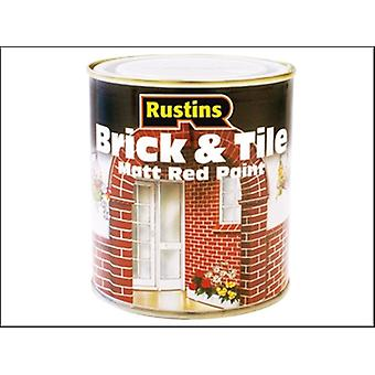 BRICK & TILE PAINT MATT RED 2.5 LITRE