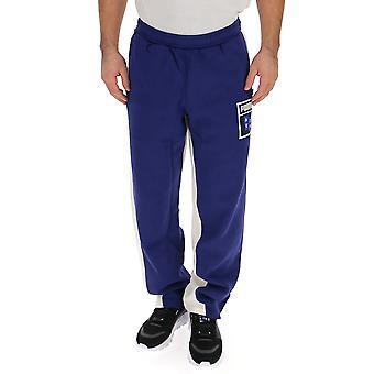 PUMA-weiß/blau-Baumwolle-Jogger