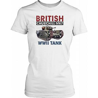 Britiske Churchill MK7 Tank - World War II damer T Shirt