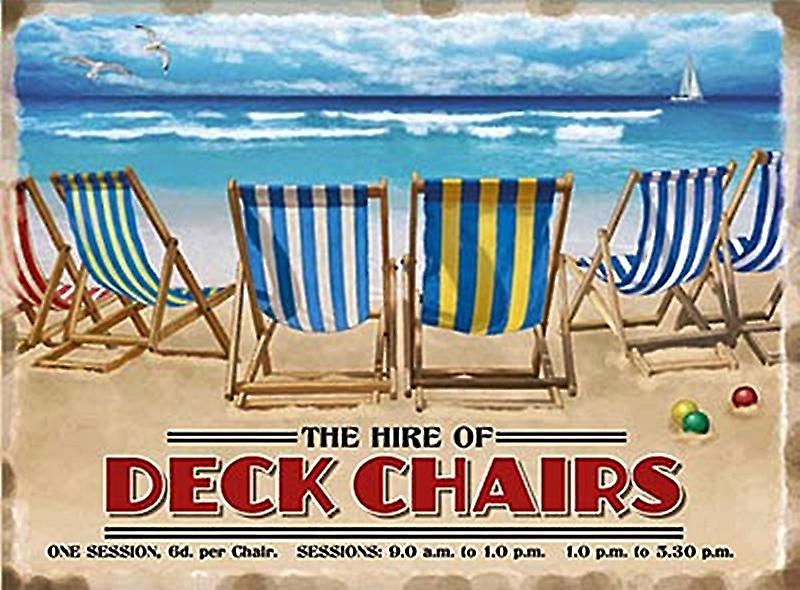 Hire Of Deckchairs large steel sign  (og 4030)