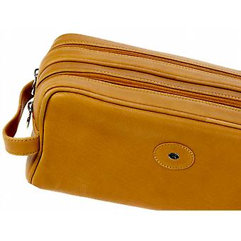 Hans Kniebes Munich Leather Toiletries Bag