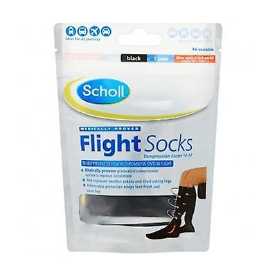 Scholl Flight Socks Cotton Feel 9.5-12 1 Pair
