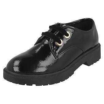 Chicas punto de encaje H2542 de zapatos de tacón medio
