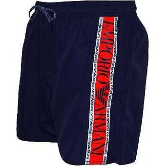 Emporio Armani side logo svømme shorts, Navy