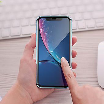 5D Full Cover screen protector with black edges for iPhone XR - 9H hardness