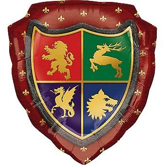 Anagram Medieval Shield Supershape Foil Balloon