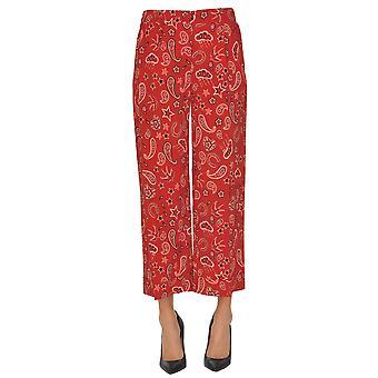 Seventy Red Viscose Pants