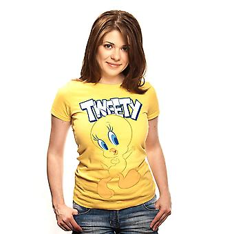 Women's Looney Tunes Tweety Pie Character Fitted T-Shirt