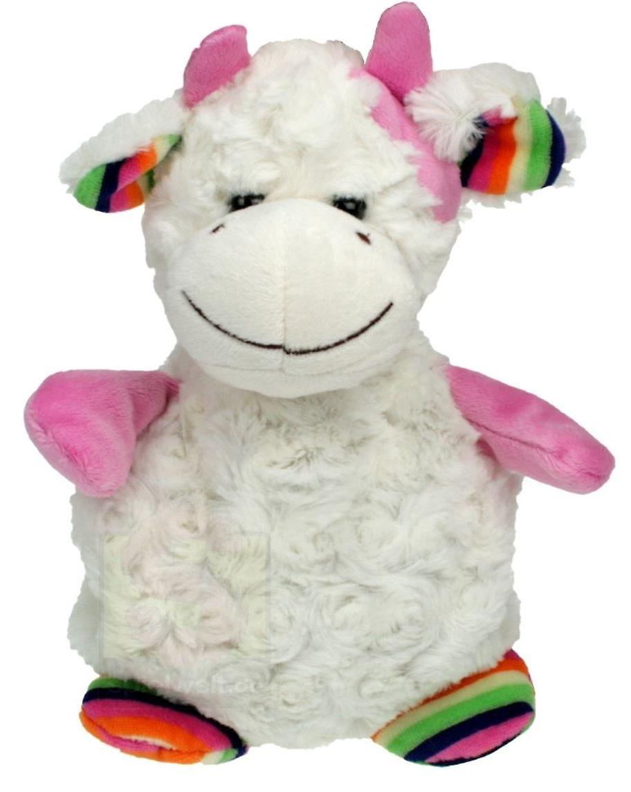 Children's Faux Fur & Fleece Cherry Pit Pillow: Cow