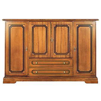 Credenza stile classico 4 porte in legno
