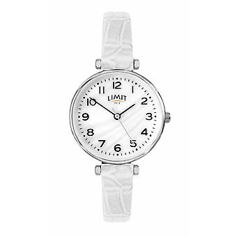 Limit | Womens White Leather Strap | Mother Of Pearl Dial | 60061.01 Watch