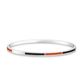 Oregon State University Two-Tone Enamel Bracelet In Dark Orange And Black
