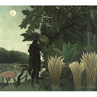 The slangenbezweerder,Henri Rousseau,50x44cm