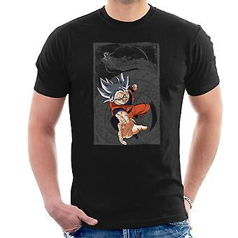 Goku Super Saiyajin weißer Drache Ball Z Herren T-Shirt