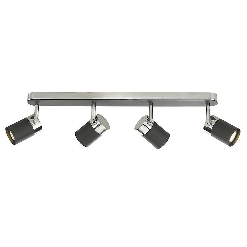 Ibsen 4lt Spot lumière Bar noir & Polished Chrome