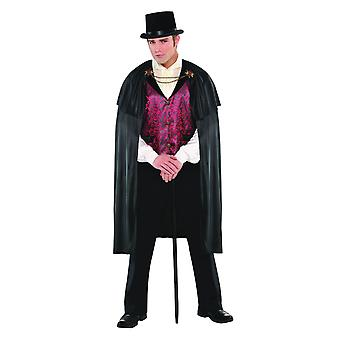 Mens bloed graaf vampier Halloween fancy dress kostuum (Medium/Large)