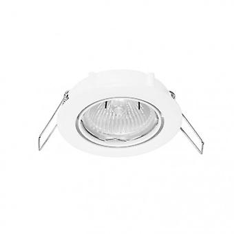 1 Light Recessed Downlight Matt White