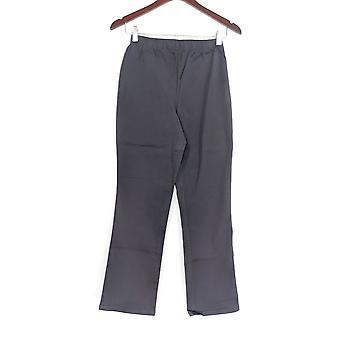 Denim & Co. Petite Leggings Stretch Boot Cut Gray A01724