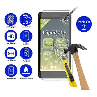 Pack of 2 Tempered Glass Screen Protection For Acer Liquid Z6 E 5