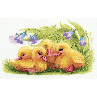 Funny Ducklings Counted Cross Stitch Kit-15.75