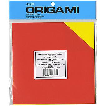 Origami papier 7 « X 7 » 36 Pkg assortis couleurs Double face Dssc 5