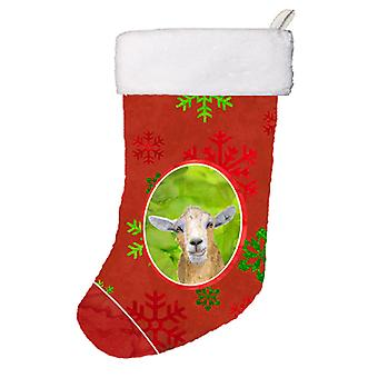 Goat Red Snowflakes Holiday Christmas  Christmas Stocking