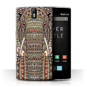 STUFF4 Case/Cover voor OnePlus One/olifant-Sepia/Azteekse dier