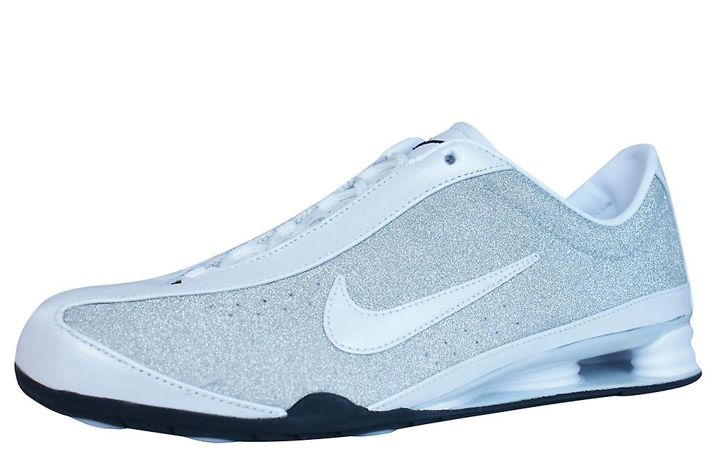 Femmes Nike Shox Rival en cuir Fitness Trainers   chaussures - argent