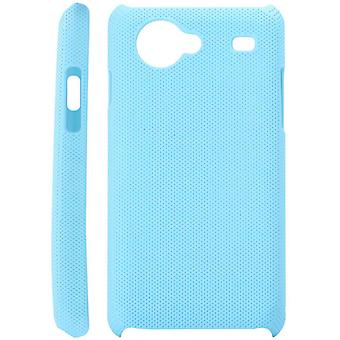 Dotted plastic cover for Samsung Galaxy S Advance i9070 (light blue)