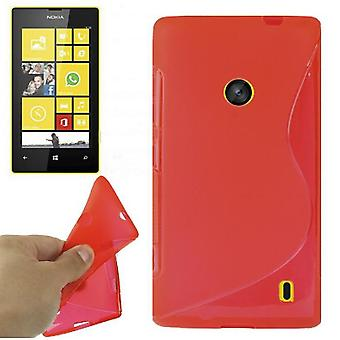 Protective case TPU case for mobile Nokia Lumia 520 Red