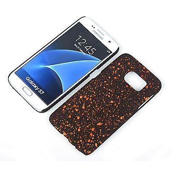 Cell phone cover case bumper shell for Samsung Galaxy S7 3D star Orange