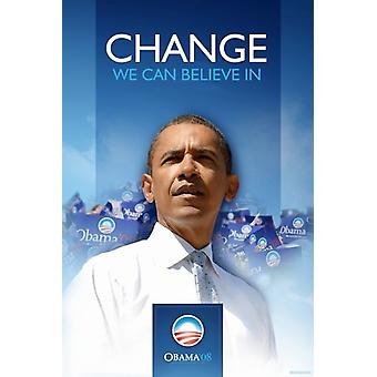 Barack Obama - (primeiro) campanha cartaz Poster do filme (11 x 17)