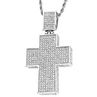 Iced out bling religion trailer - 3D cross silver