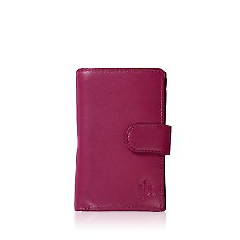Leather Purse 14.5cm in Cranberry