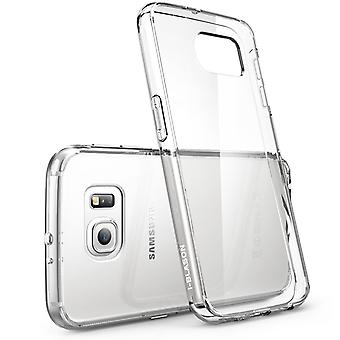 Galaxy S6 Case, Scratch Resistant,  i-Blason Clear,Halo Series, Samsung Galaxy S6 Hybrid Bumper Case Cover-Clear