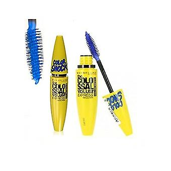 6 x Maybelline Volum' Express Colossal Color Shock Electric Navy Mascara 10.7ml