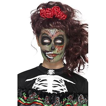Day of the dead make up zombie set of 5 pieces makeup facial