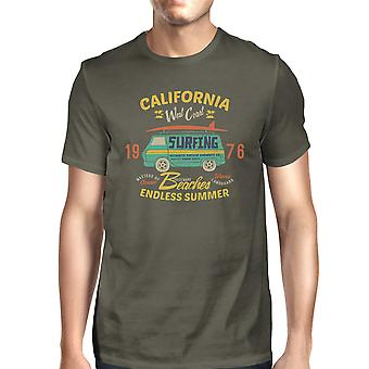 Californië stranden Endless Summer Mens Dark Gray ronde hals T-Shirt