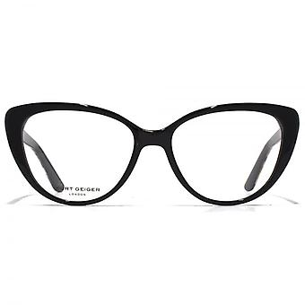 Kurt Geiger Libby Cateye Acetate Glasses In Black