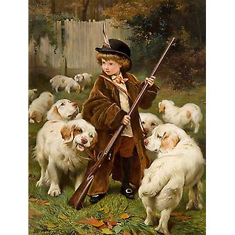 Charles Burton Barber - The New Keeper Poster Print Giclee