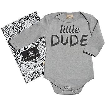 Spoilt Rotten Little Dude Organic Long Sleeve Babygrow