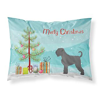 Black Russian Terrier Christmas Fabric Standard Pillowcase