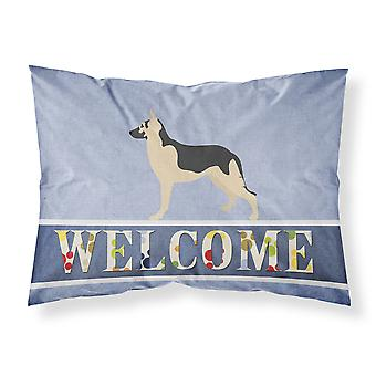 German Shepherd Welcome Fabric Standard Pillowcase
