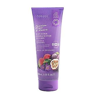 3 X GRACE COLE PASSION FRUIT & GUAVA REVIVING BODY SCRUB 3X238ml