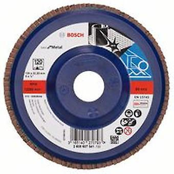 Bosch 2608607341 125Mm P120 X571 Flap Disc For Metal Plastic Backed Straight